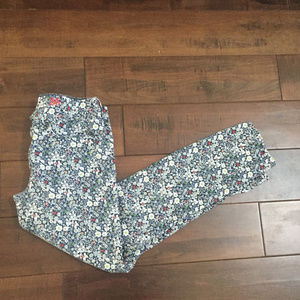 J.Crew Toothpick Floral Flower Jeans Size 26 Ankle